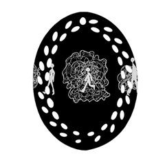Drawing  Oval Filigree Ornament (two Sides)