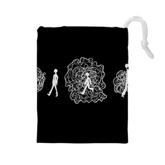 Drawing  Drawstring Pouches (large)