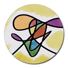 Abstract Art Colorful Round Mousepads by Modern2018