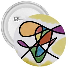Abstract Art Colorful 3  Buttons by Modern2018