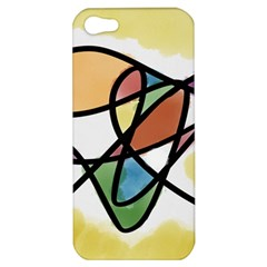 Abstract Art Colorful Apple Iphone 5 Hardshell Case by Modern2018