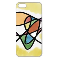 Abstract Art Colorful Apple Seamless Iphone 5 Case (clear) by Modern2018