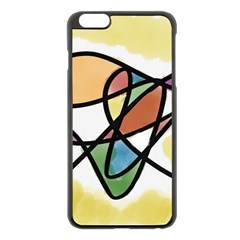 Abstract Art Colorful Apple Iphone 6 Plus/6s Plus Black Enamel Case by Modern2018