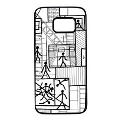 Drawing Samsung Galaxy S7 Black Seamless Case