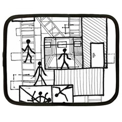 Drawing Netbook Case (xl)  by ValentinaDesign