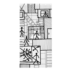 Drawing Shower Curtain 36  X 72  (stall)  by ValentinaDesign