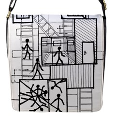 Drawing Flap Messenger Bag (s) by ValentinaDesign