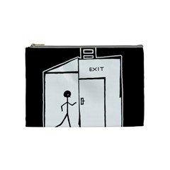 Drawing Cosmetic Bag (medium)  by ValentinaDesign