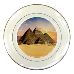 Ancient Archeology Architecture Porcelain Plates by Modern2018