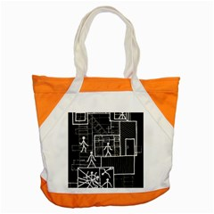 Drawing Accent Tote Bag by ValentinaDesign
