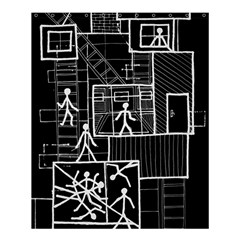 Drawing Shower Curtain 60  X 72  (medium)  by ValentinaDesign