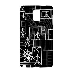 Drawing Samsung Galaxy Note 4 Hardshell Case by ValentinaDesign