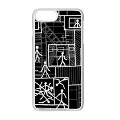 Drawing Apple Iphone 8 Plus Seamless Case (white) by ValentinaDesign