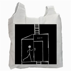 Drawing Recycle Bag (one Side) by ValentinaDesign