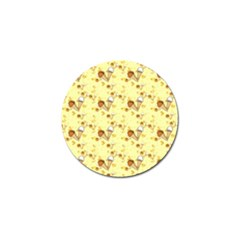 Funny Sunny Ice Cream Cone Cornet Yellow Pattern  Golf Ball Marker by yoursparklingshop