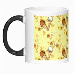 Funny Sunny Ice Cream Cone Cornet Yellow Pattern  Morph Mugs by yoursparklingshop