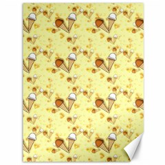 Funny Sunny Ice Cream Cone Cornet Yellow Pattern  Canvas 36  X 48   by yoursparklingshop