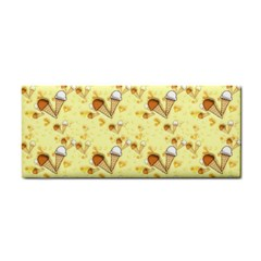 Funny Sunny Ice Cream Cone Cornet Yellow Pattern  Cosmetic Storage Cases by yoursparklingshop
