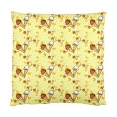 Funny Sunny Ice Cream Cone Cornet Yellow Pattern  Standard Cushion Case (two Sides) by yoursparklingshop