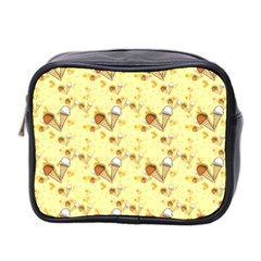 Funny Sunny Ice Cream Cone Cornet Yellow Pattern  Mini Toiletries Bag 2 Side by yoursparklingshop