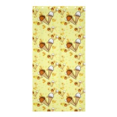 Funny Sunny Ice Cream Cone Cornet Yellow Pattern  Shower Curtain 36  X 72  (stall)  by yoursparklingshop