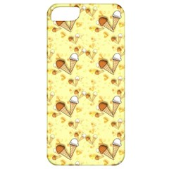 Funny Sunny Ice Cream Cone Cornet Yellow Pattern  Apple Iphone 5 Classic Hardshell Case by yoursparklingshop