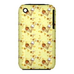 Funny Sunny Ice Cream Cone Cornet Yellow Pattern  Iphone 3s/3gs by yoursparklingshop