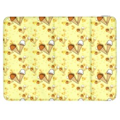 Funny Sunny Ice Cream Cone Cornet Yellow Pattern  Samsung Galaxy Tab 7  P1000 Flip Case by yoursparklingshop