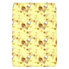 Funny Sunny Ice Cream Cone Cornet Yellow Pattern  Flap Covers (s)  by yoursparklingshop