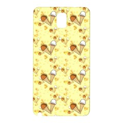 Funny Sunny Ice Cream Cone Cornet Yellow Pattern  Samsung Galaxy Note 3 N9005 Hardshell Back Case by yoursparklingshop