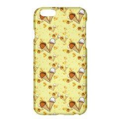 Funny Sunny Ice Cream Cone Cornet Yellow Pattern  Apple Iphone 6 Plus/6s Plus Hardshell Case by yoursparklingshop
