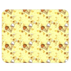 Funny Sunny Ice Cream Cone Cornet Yellow Pattern  Double Sided Flano Blanket (medium)  by yoursparklingshop