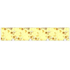 Funny Sunny Ice Cream Cone Cornet Yellow Pattern  Large Flano Scarf  by yoursparklingshop