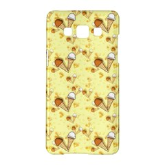 Funny Sunny Ice Cream Cone Cornet Yellow Pattern  Samsung Galaxy A5 Hardshell Case  by yoursparklingshop