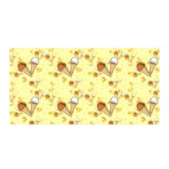 Funny Sunny Ice Cream Cone Cornet Yellow Pattern  Satin Wrap by yoursparklingshop