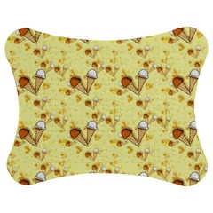 Funny Sunny Ice Cream Cone Cornet Yellow Pattern  Jigsaw Puzzle Photo Stand (bow) by yoursparklingshop