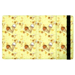 Funny Sunny Ice Cream Cone Cornet Yellow Pattern  Apple Ipad Pro 12 9   Flip Case by yoursparklingshop