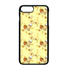 Funny Sunny Ice Cream Cone Cornet Yellow Pattern  Apple Iphone 7 Plus Seamless Case (black) by yoursparklingshop