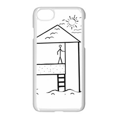 Drawing Apple Iphone 8 Seamless Case (white) by ValentinaDesign