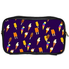 Ice Cream Cone Cornet Blue Summer Season Food Funny Pattern Toiletries Bags by yoursparklingshop