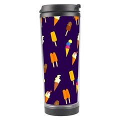 Ice Cream Cone Cornet Blue Summer Season Food Funny Pattern Travel Tumbler by yoursparklingshop