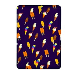 Ice Cream Cone Cornet Blue Summer Season Food Funny Pattern Samsung Galaxy Tab 2 (10 1 ) P5100 Hardshell Case  by yoursparklingshop