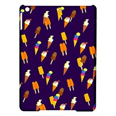 Ice Cream Cone Cornet Blue Summer Season Food Funny Pattern Ipad Air Hardshell Cases by yoursparklingshop