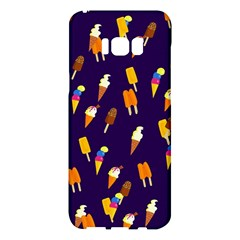 Ice Cream Cone Cornet Blue Summer Season Food Funny Pattern Samsung Galaxy S8 Plus Hardshell Case  by yoursparklingshop