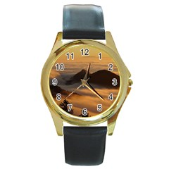 Homberg Clouds Selva Marine Round Gold Metal Watch