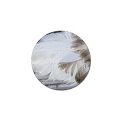 Feather Brown Gray White Natural Photography Elegant Golf Ball Marker by yoursparklingshop