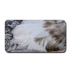 Feather Brown Gray White Natural Photography Elegant Medium Bar Mats by yoursparklingshop