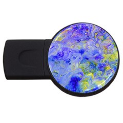 Abstract Blue Texture Pattern Usb Flash Drive Round (4 Gb) by Simbadda