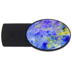 Abstract Blue Texture Pattern Usb Flash Drive Oval (4 Gb)