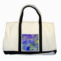 Abstract Blue Texture Pattern Two Tone Tote Bag